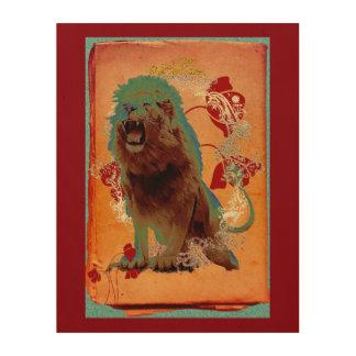 The Lion 1 - Wood Wall Art Wood Print