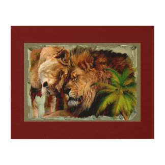 The Lion 2 - Wood Wall Art Wood Print