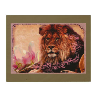 The Lion 3 - Wood Wall Art Wood Canvas