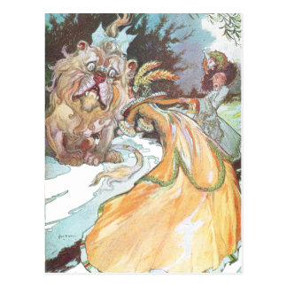 The Lion and Aunt Em Postcard