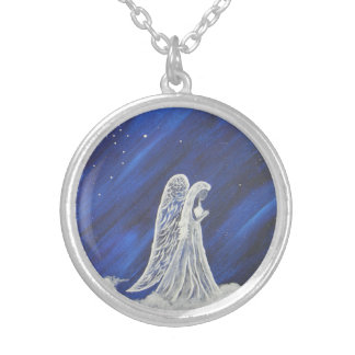 The Lion and the Angel Silver Plated Necklace