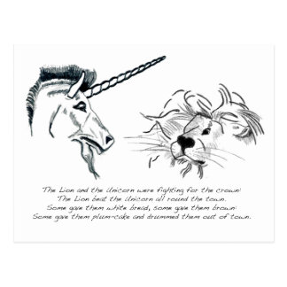 The Lion and the Unicorn Postcard
