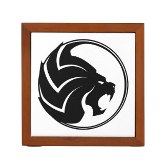 """The Lion"" Desk Organizer Black & White"
