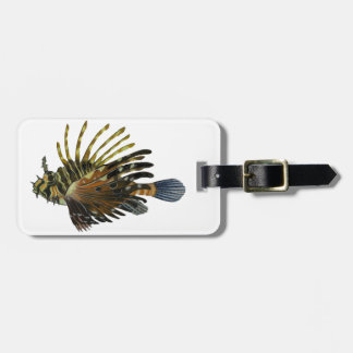 THE LION FISH LUGGAGE TAG