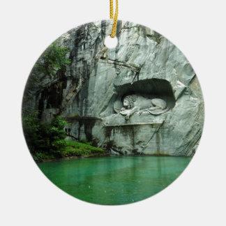 The Lion Monument in Lucerne Ceramic Ornament