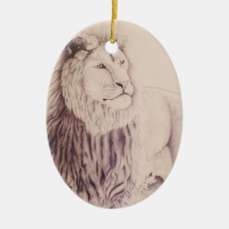 The Lion of Judah Merry Christmas Ornament