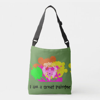 The lion painter crossbody bag