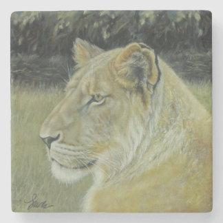 """""""The Lion Queen"""" Stone Coaster"""