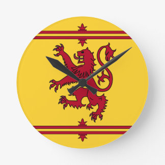 The Lion Rampant of Scotland Wall Clocks