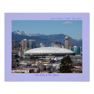 The Lions & BC Place Poster
