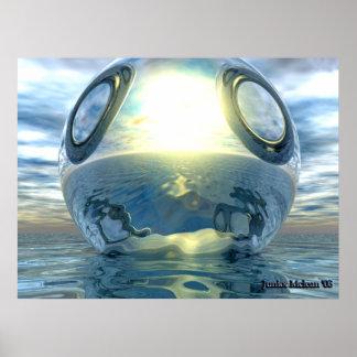 The Liquid Metallic Sphere Poster
