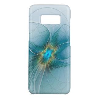 The little Beauty Modern Blue Gold Fractal Flower Case-Mate Samsung Galaxy S8 Case