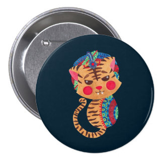 The Little Bengal Tiger 3 Inch Round Button