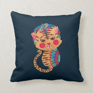 The Little Bengal Tiger Throw Pillows