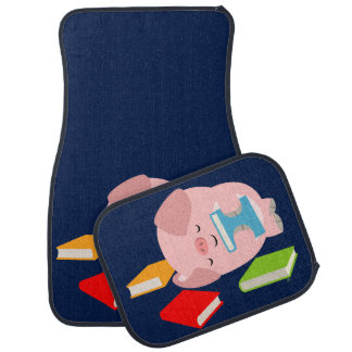 The Little Book Lover (Cartoon Pig) Car Mats