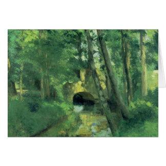 The Little Bridge, Pontoise, 1875 Card