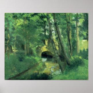 The Little Bridge, Pontoise, 1875 Poster