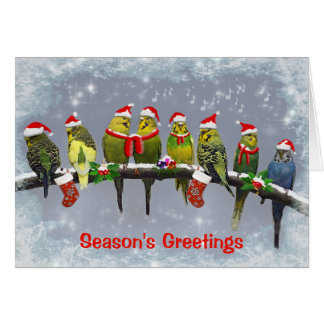 The Little Carollers Card (Enter Your Own Message)