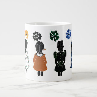 The Little Colored Girls Jumbo Mug by Rose Hill