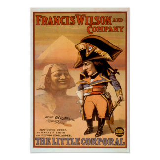 """The Little Corporal"" Egypt Sphinx Theatre Poster"