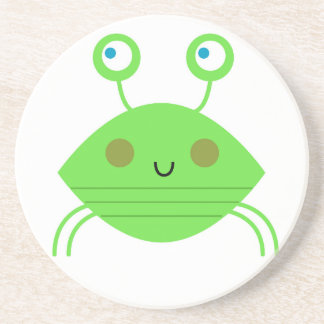 The little cute Crab on white Coaster