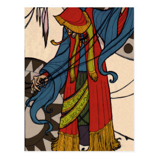 The Little Dreamer - Gypsy Fortune Teller Postcard