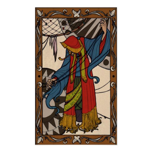 The Little Dreamer - Gypsy Fortune Teller Poster