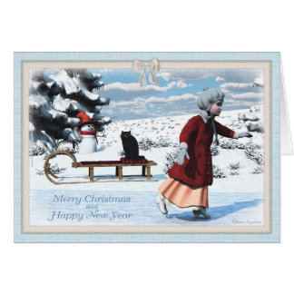 The little figure skater Greeting card