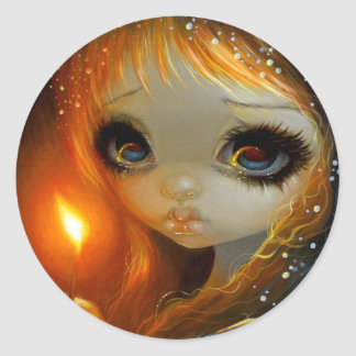 """The Little Match Girl Classic Round Sticker"