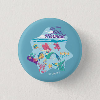 The Little Mermaid & Friends 1 Inch Round Button