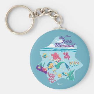 The Little Mermaid & Friends Basic Round Button Keychain