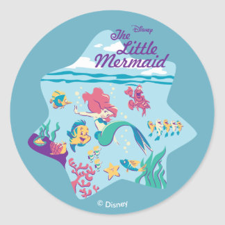 The Little Mermaid & Friends Classic Round Sticker