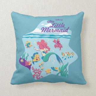 The Little Mermaid & Friends Throw Pillow