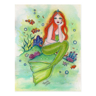The little mermaid postcard Fantasy art by Renee