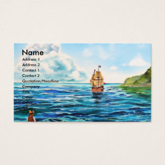 The little Mermaid seascape painting Business Card