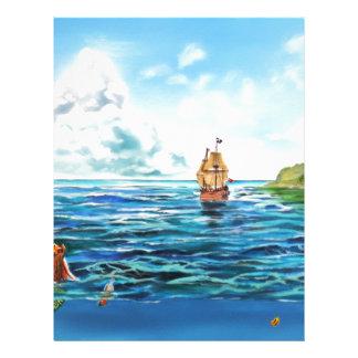 The little Mermaid seascape painting Letterhead
