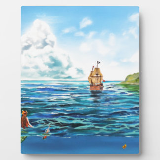The little Mermaid seascape painting Plaque