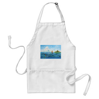 The little Mermaid seascape painting Standard Apron