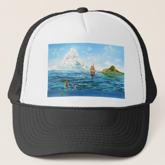 The little Mermaid seascape painting Trucker Hat