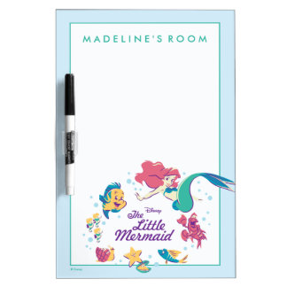 The Little Mermaid & the Sea Dry Erase Whiteboard