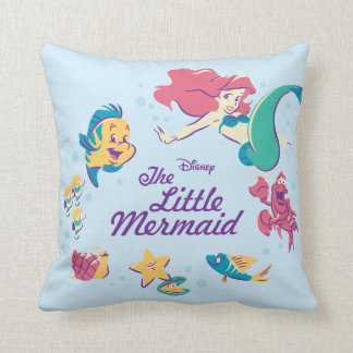 The Little Mermaid & the Sea Throw Pillow