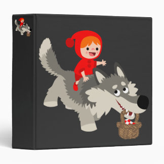 The Little Red Riding Hood And The Wolf 3 Ring Binder