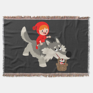 The Little Red Riding Hood And The Wolf Throw Blanket