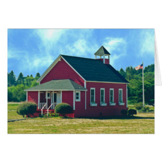 The Little Red Schoolhouse Card