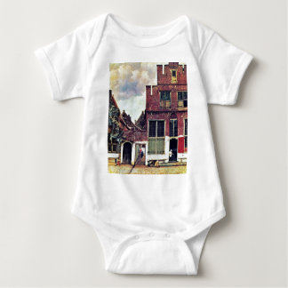 The Little Street,  By Johannes Vermeer Baby Bodysuit