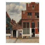 The Little Street by Johannes Vermeer Large Poster