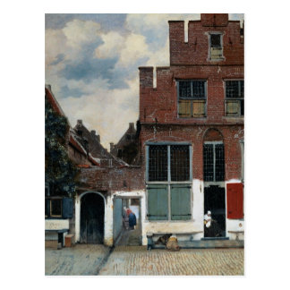 The Little Street by Johannes Vermeer Postcard
