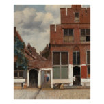 The Little Street by Johannes Vermeer Poster