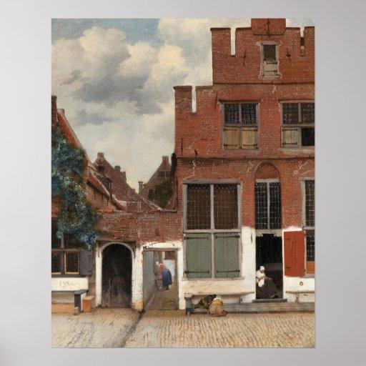 The Little Street by Johannes Vermeer Print