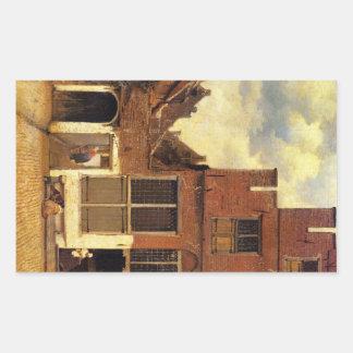 The little street by Johannes Vermeer Sticker